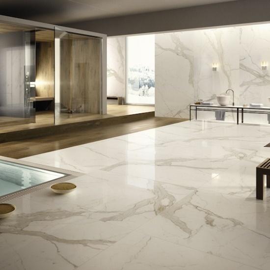 Calacatta oro marble kitchen